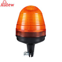 12V 24V LED Rotating Flashing Amber Beacon Flexible Pole Mount Tractor Warning Light For Truck
