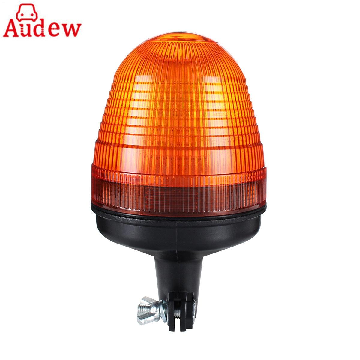 12V/24V LED Rotating Flashing Amber Beacon Flexible Pole Mount Tractor Warning Light for Truck цены