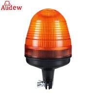 12V 24V LED Rotating Flashing Amber Beacon Flexible Pole Mount Tractor Warning Light For Truck