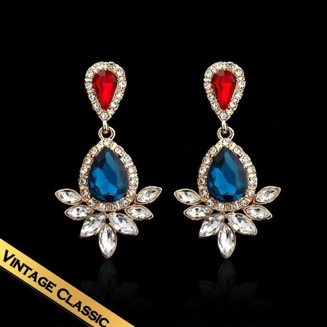 Special Brightness Sri Lanka Zircon Earrings Free Shipping Big stone Earrings For Evening Party ED141133