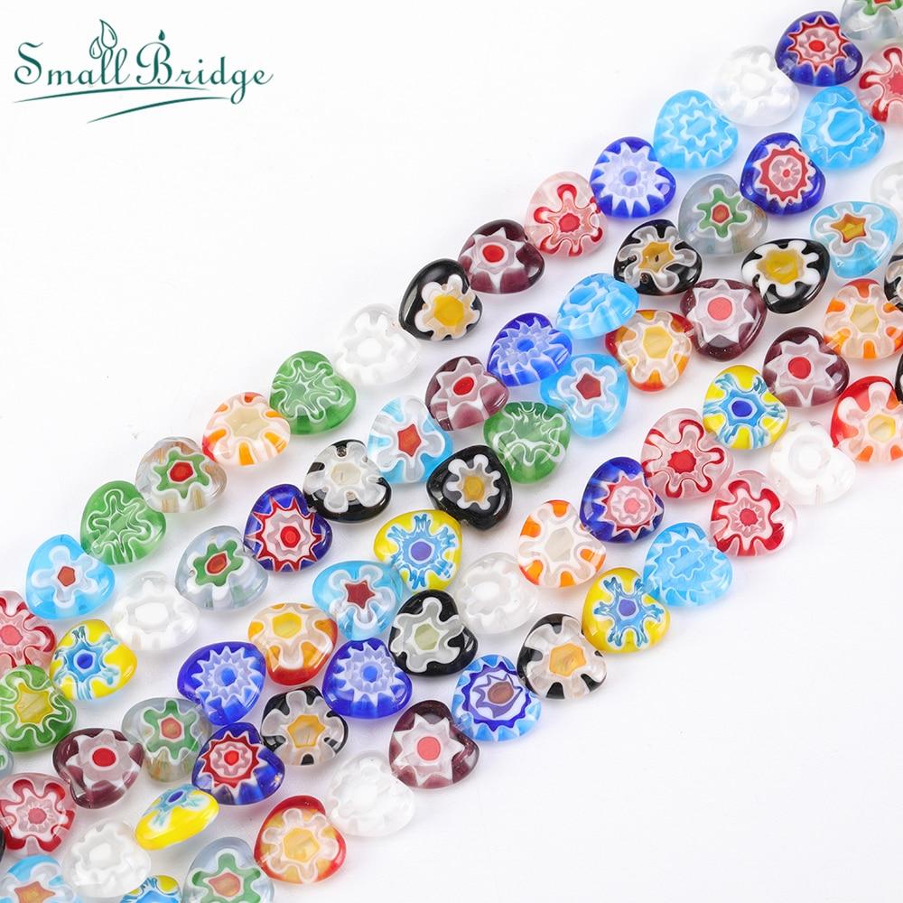 10 Pcs 10mm Millefiori Round Beads Glass Spacer Jewellery Beading  H27