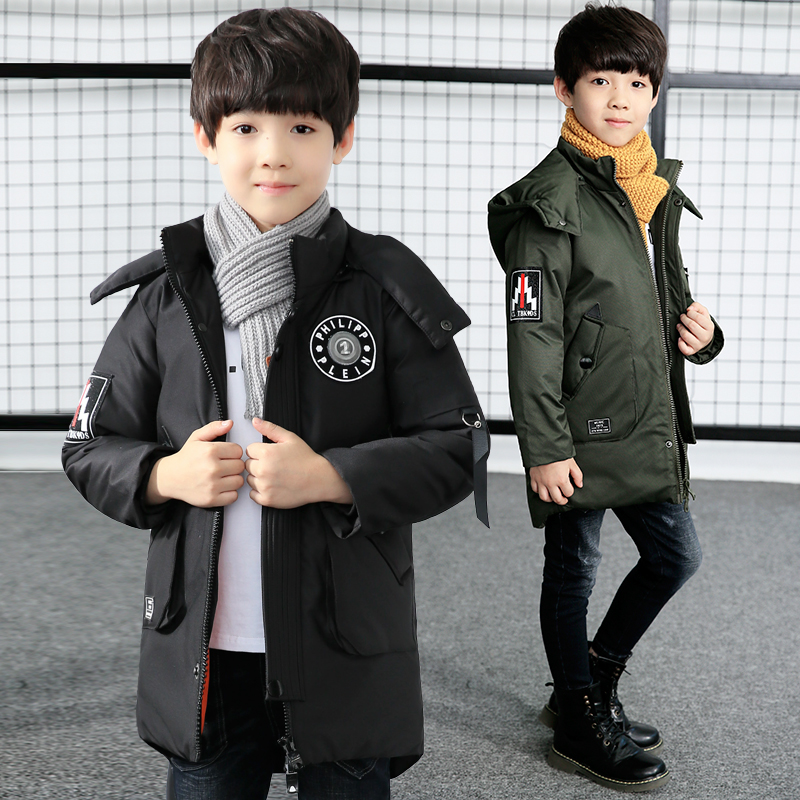 boy winter jacket coat 2018 parka boy hooded long sleeve thick warm fashion winter down jacket parka for boy kids winter clothes карабин camp camp hms lock