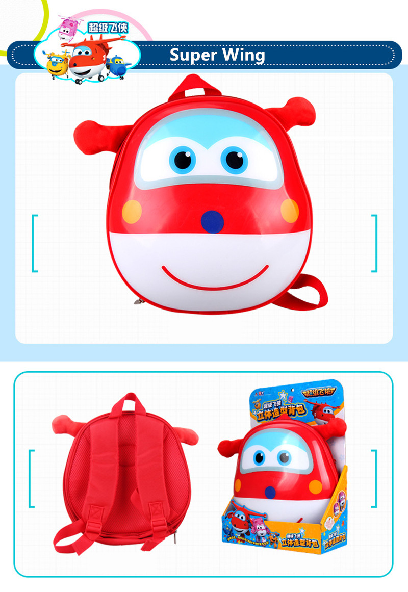 98fe2c4726cd2 Super Wings 3D Lovely Action Figures School Backpack Toys & Hobbies Baby  Kindergarten Study Stationary Anime Series Movie & TV-in Dolls from Toys &  Hobbies ...