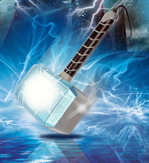 Alianza avengers thor hammer LED Que Brilla Intensamente y Sonando Casco juguete Martillo de Thor Thor Thor Cosplay Máscara de la figura de acción