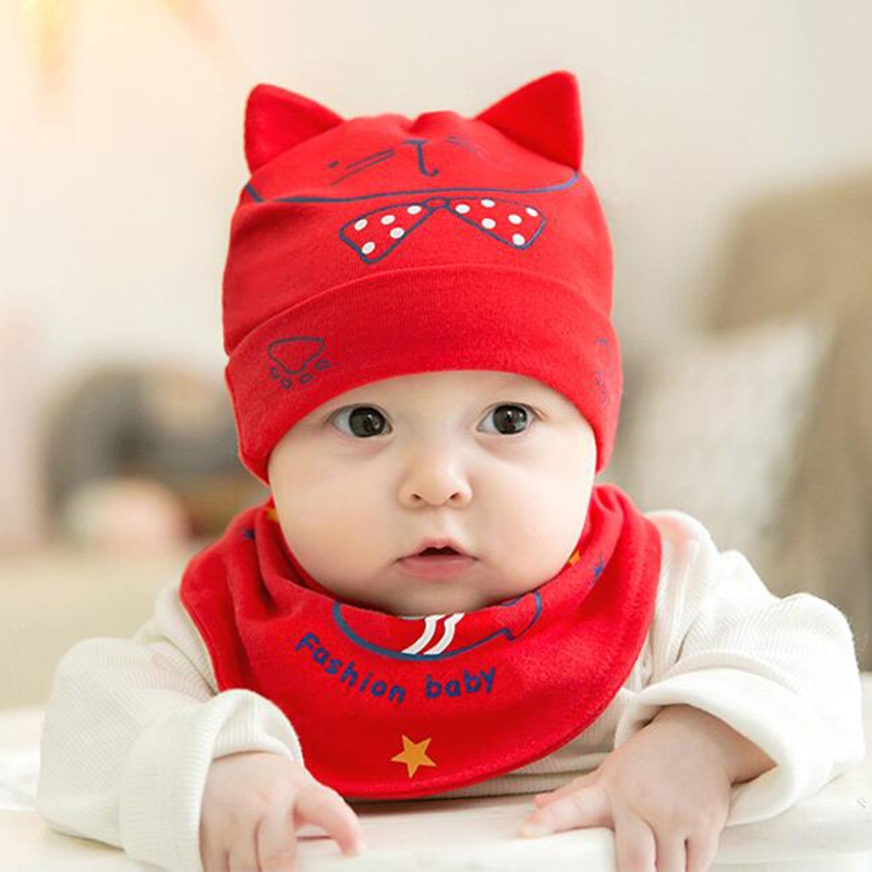 Mother & Kids Imported From Abroad Hpbbkd Newborn Baby Hat Set 2pcs/lot Infant Caps Cotton Baby Beanies Baby Girls Boys Hat Bib Kids Scarf Baby Hat Scarf Set Gh615 Accessories