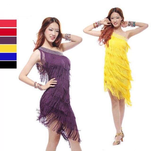 Jupe de danse latine sexy, vêtement de danse à glands, vêtement bon marché pour femmes, en solde, nouvelle collection 2016