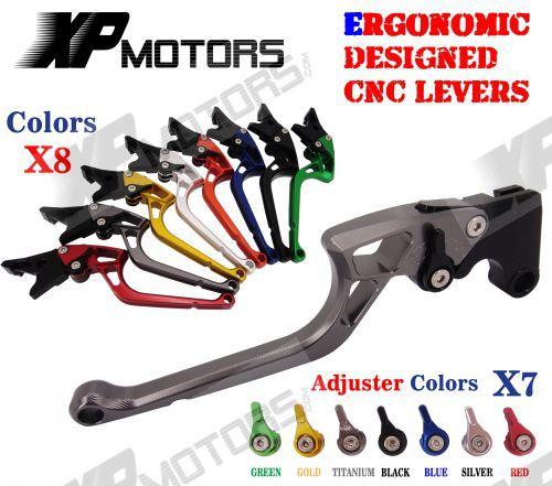 ФОТО Ergonomic New CNC Adjustable Right-angled 170mm Brake Clutch Levers For Buell XB12 2004 2005 2006 2007 2008
