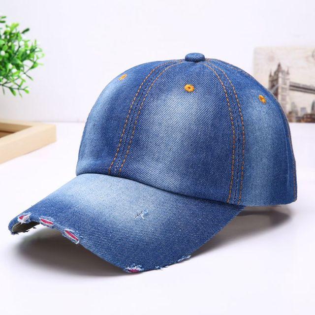 Vintage Cowboy gorra de béisbol hombre mujer gorras de béisbol ajustables  moda Unisex Jean sombrero del 95e0e6b4e45