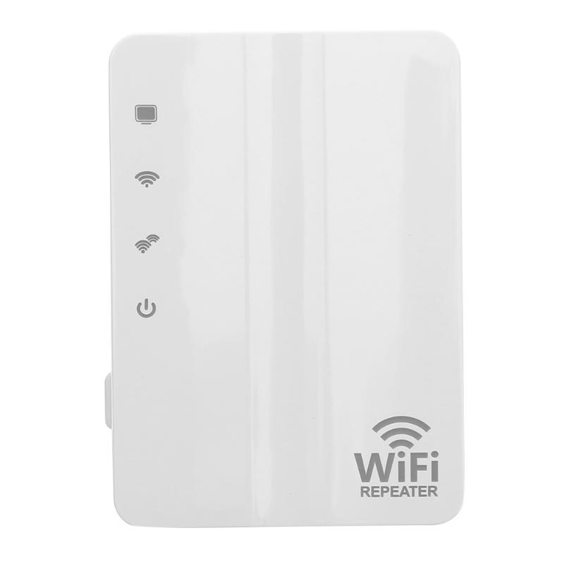 1 X 10/100 Mbps LAN Port Wireless Network Repeater 300Mbps Wall Plug Wi-Fi Amplifier Extender with Built-in Antenna for Laptop
