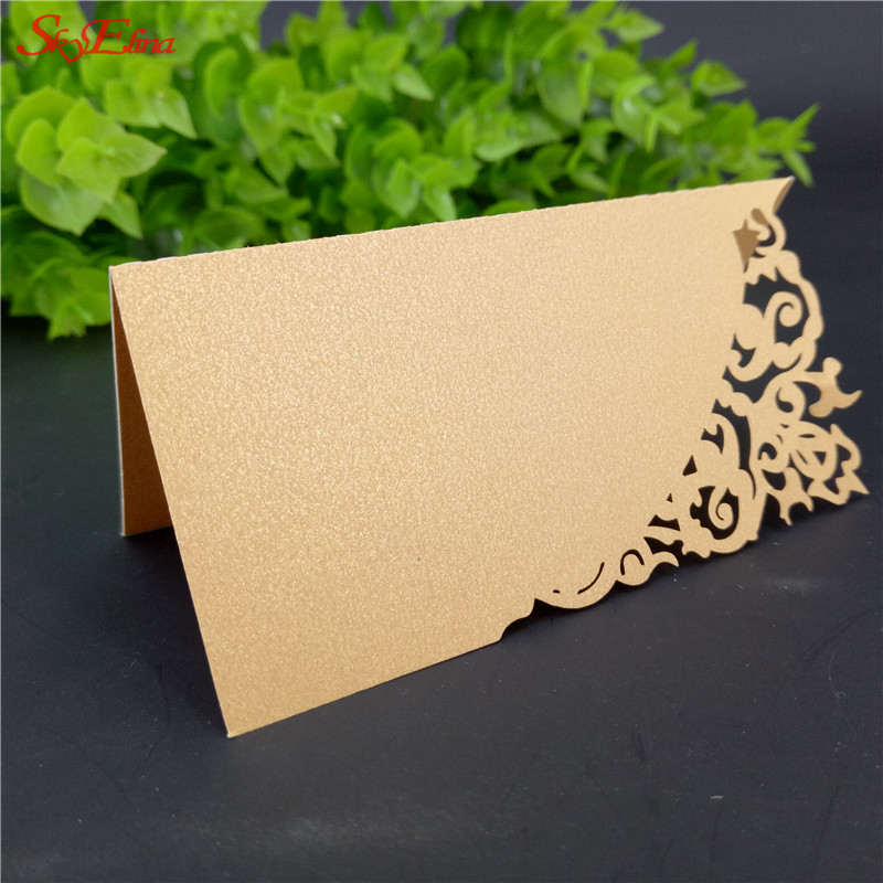Event & Party 9*9 Cm 50pcs Hollow Laser Cutting Wedding Table Cards Wedding/baby Shower Kids Birthday Party Place Name Cards 7z-sh870-50