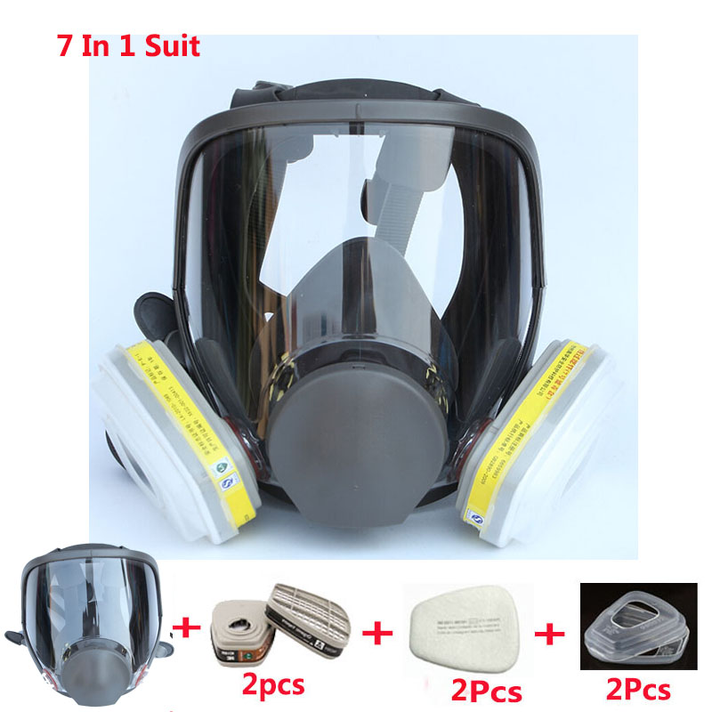 Image 5 - Lot Of Chemcial Painting Spraying Silicone Gas Mask Same For 3M 6800 Dust Gas Mask Full Face Industry Respiratorlotlot oflot lot -