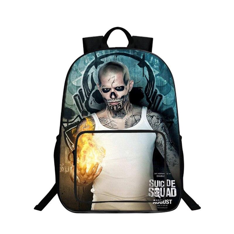 BAOBEIKU New Arrival 3D Backpacks Suicide Squad Printing Cool Children SchoolBags For Girls Boys Men Book Bag Kids Bags Hot Sale