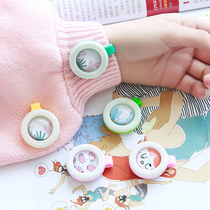 2018 2PCs Child Mosquito Repellent Baby Pregnant Anti Mosquito Pest Control Buttons Portable Mosquito Killer for 2-3Month Use