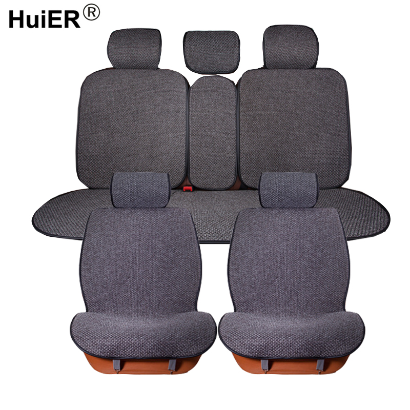HuiER Universal Car Seat Covers Flax Cushion Cover Fashion Comfortable 6 Colors Styling Automobile Protector