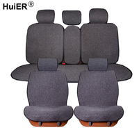 HuiER Universal Car Seat Covers Flax Car Seat Cushion Cover Fashion Comfortable 6 Colors Car Styling Automobile Seat Protector