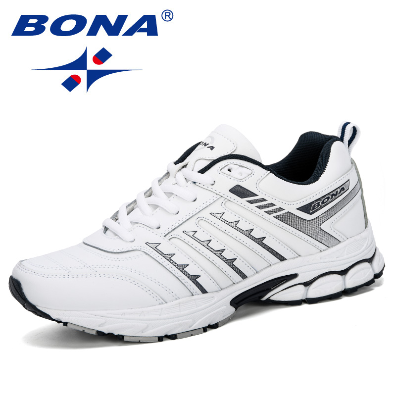 BONA 2019 New Arrival Men Road Running Jogging Walking Sports  Shoes High Quality Lace Up Breathable Male Sneakers ComfortableRunning  Shoes