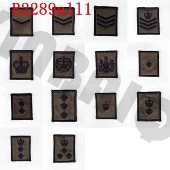 Parche bordado verde ejército británico rango MTP