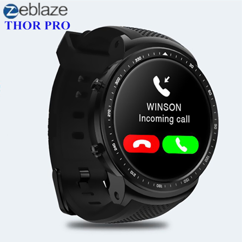 Zeblaze THOR PRO 3g Smartwatch Téléphone Android Montre Smart Watch MTK6580 Quad Core 1 gb + 16 gb GPS Bluetooth GPS Sport Dispositifs Portables