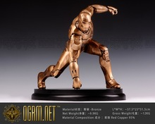 OGRM Bronze Crafts Iron Man Full Body Sculpture Iron Man Statues 1:4 Scale Statue Figure