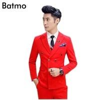 2017 новое поступление хлопок высокого качества двубортный красный костюм размеры S и M en, торжественное платье, размеры S M, L, XL, XXL, XXXL, XXXXL