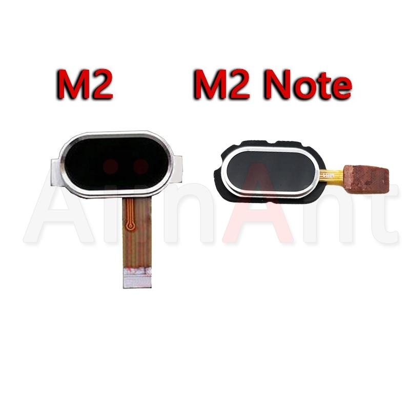 Aiinant Original Back Home Key Button Touch ID Fingerprint Sensor Flex Ribbon Cable For Meizu M2 Note Home Flex