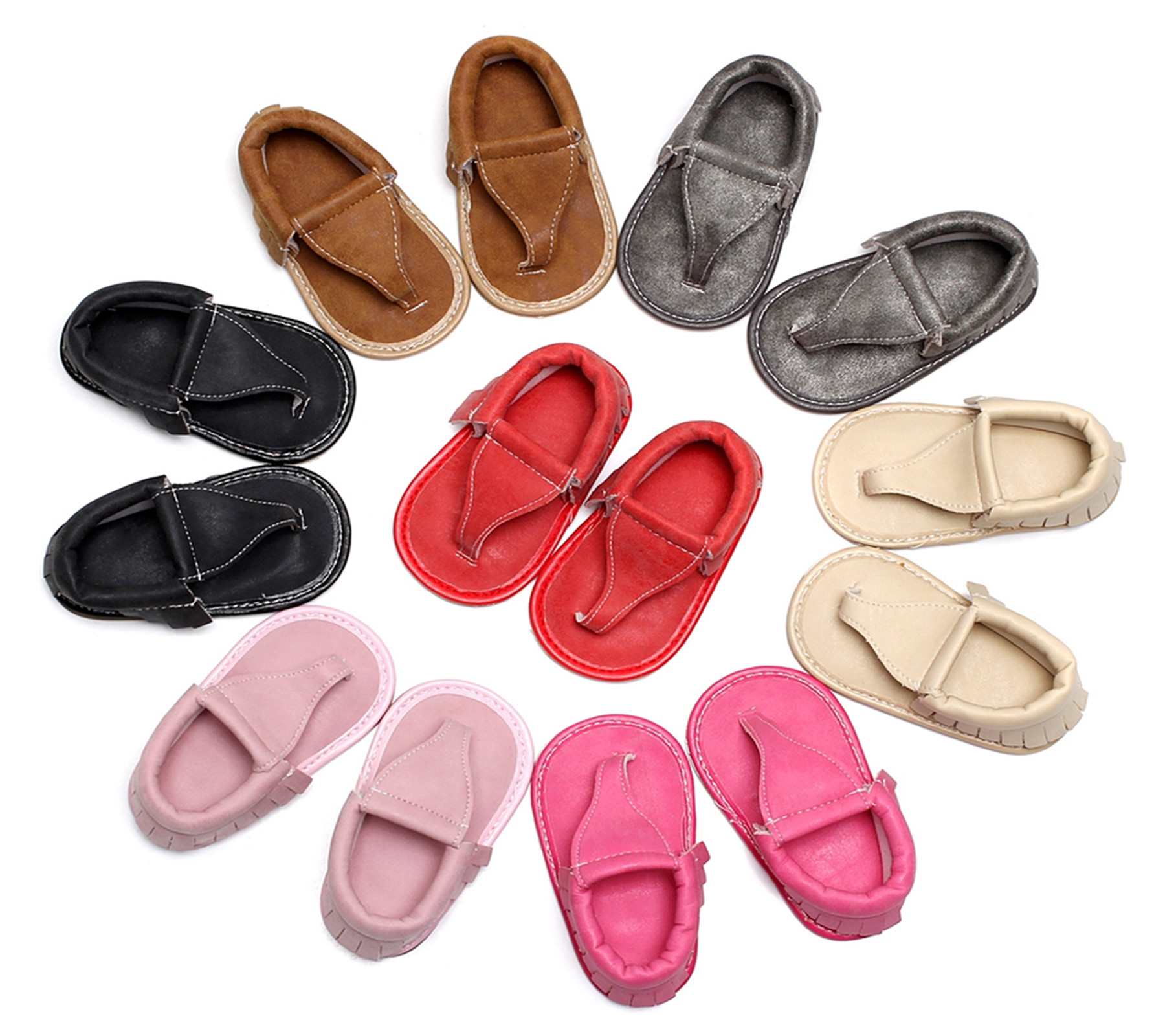 2018 Summer Tassels Baby Moccasins Baby Shoes Girls First Walkers Rubber Soled Non-slip Toddler Shoes Slippers