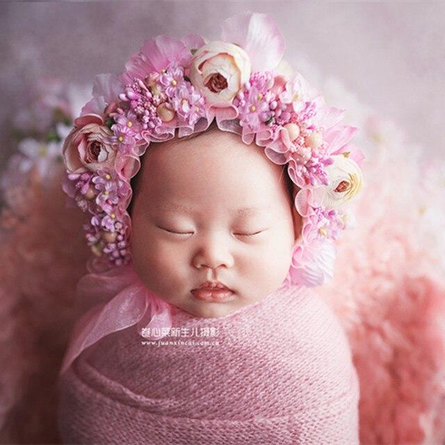 pink hat baby rustic pink bonnet pink baby reborn pink bonnet framboise girl bonnet pink photography props props for newborn session