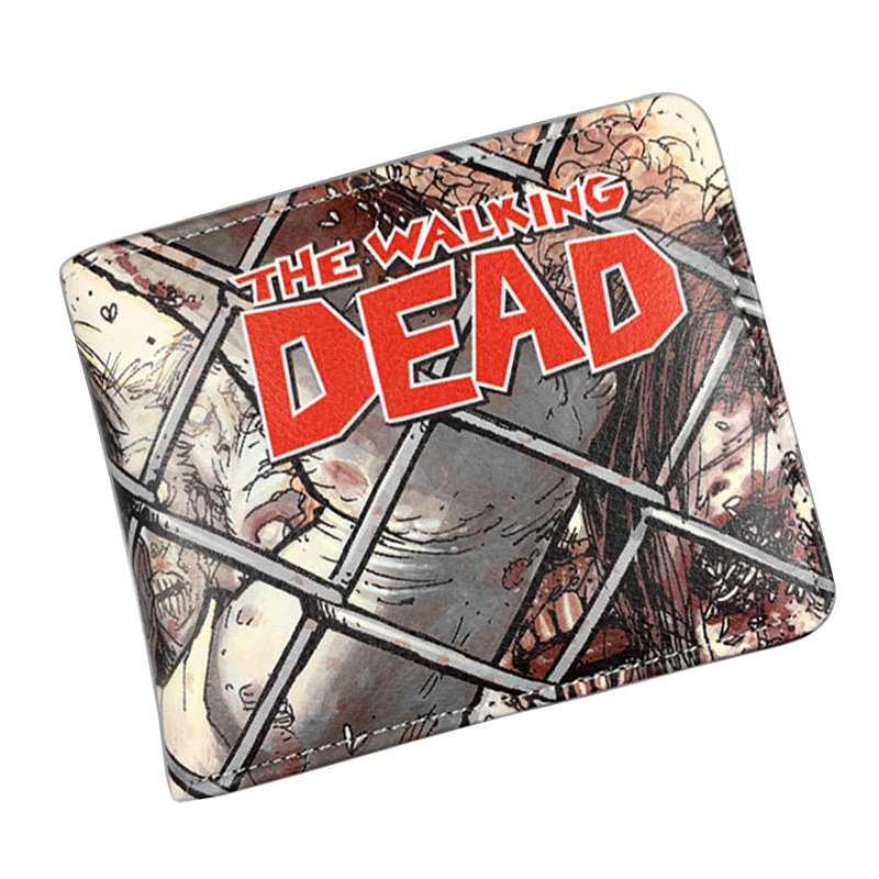 Hot Movie Walking Dead Wallets PU Leather Purse Men Women Gift Dollar Cartoon Anime Animation Hero Bags Short Wallet cartoon wallet rashly giant reconnaissance survey marks around pu leather anime dollar bags student gift purse short wallets