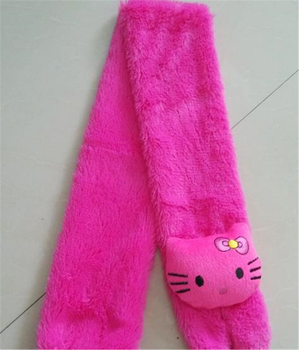 38631e805 2105 child shawls and scarves Hello Kitty plush hijab lovely band Soft warm  winter scarf for baby birthday/ Christmas gift-in Scarves from Mother &  Kids on ...
