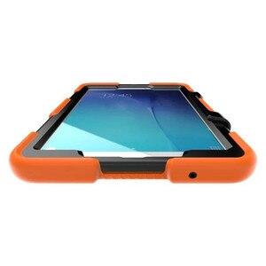 Image 4 - Para samsung galaxy tab e 9.6 ttablet t560 t561 tablet à prova de choque caso duro militar resistente silicone robusto suporte capa protetora