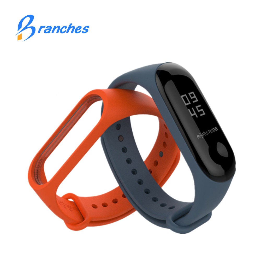 Original Mi Band 3 Bracelet For Xiaomi Mi Band 3 Strap Bracelet Wristband Straps Replacement Colorful Silicone Accessories hangrui colorful silicone strap for xiaomi mi band 2 wristband bracelet strap replacement watch straps for mi band 3 accessories