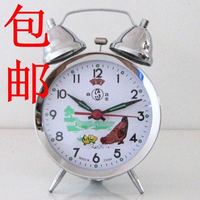 Mechanical alarm clock copper movement wind up alarm clock gold silver Medium 804