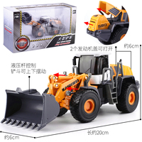 Construction vehicle excavator alloy car model fire truck crane dump truck children's toy set W92