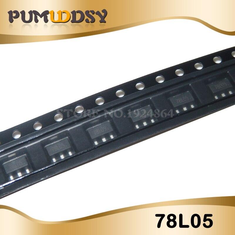 50pcs/lot 78L05 SOT89 Triode New Original Free Shipping IC