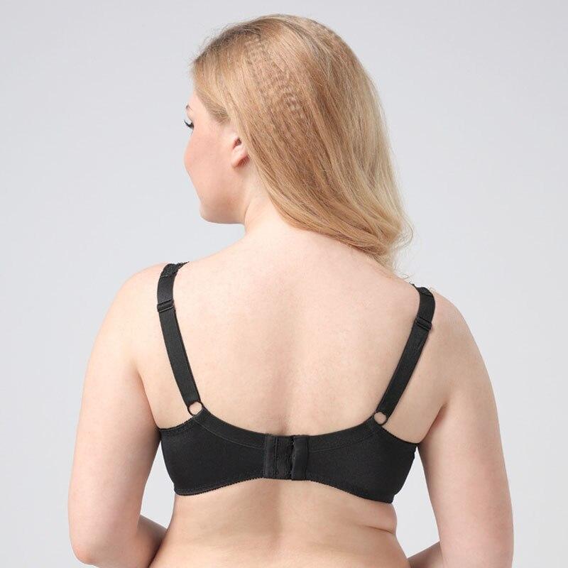 78e2683bbe Ladychili women intimates black anti-droping underwire european style wide  strap bralette lingerie for big girl big breast wd15