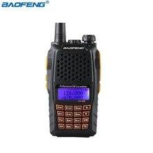 Original BaoFeng UV 6R UV 6R Two Way Radio Portable radio Walkie Talkie Pofung 5W 128CH UHF/VHF Dual Band Handled Transceiver