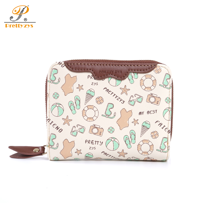 Prettyzys Small Wallet Female Ladies Money  Coin Purses Card Holder Short Leather Perse Cartoon Girls Baby Fashion Cute Mobile