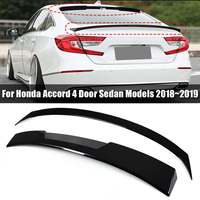 Car Black Wing Trunk Spoiler + Rear Window Roof Spoiler for HONDA for ACCORD 2018~2019 Exterior Parts Lip Spoiler
