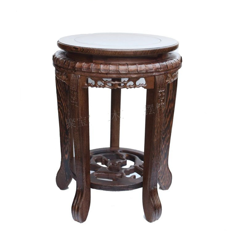 Stool wood household act the role is tasted red wood carving handicraft furnishing articles vase base wood carving rosewood household act the role ofing is tasted of buddha vase basin handicraft furnishing articles on sale
