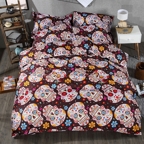 3D Skull Bedding sets Plaid Duvet Covers for Queen Size Bed Europe Style Sugar Skull Bedding Pink Flower Duvet Cover3D Skull Bedding sets Plaid Duvet Covers for Queen Size Bed Europe Style Sugar Skull Bedding Pink Flower Duvet Cover