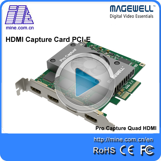 New generation Pro capture 4 channels hdmi PCI e video ...