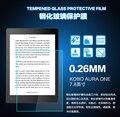 """9 h 2.5d vidrio templado film protector de pantalla para kobo aura un 7.8 """"pulgadas + paño de alcohol"""