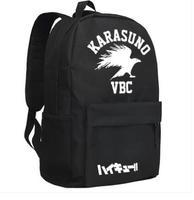 High Q Anime Volley ball haikyuu teenager Glow In Dark Kujo Jotaro COSPLAY oxford luminous School Backpack