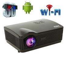 Android 4.4 WiFi smart TV Led Projecteur HD 1080 p 5500 Lumens portable Multimédia home cinéma film vidéo pryector Beamer bt96