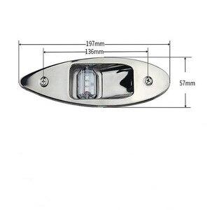 Image 3 - مجموعة واحدة من مصابيح الملاحة LED من الفولاذ المقاوم للصدأ 12 فولت مصباح ميناء بحري أحمر أخضر مصباح أمامي 197 مللي متر