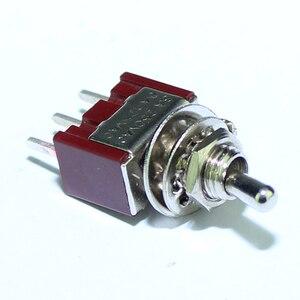 Image 2 - 100 قطعة MTS 102 C2 PCB تبديل التبديل 6 مللي متر 3A 250VAC 6A 125VAC 3 دبوس SPDT على اللون الأحمر مع المحرك القصير ومحطة PCB
