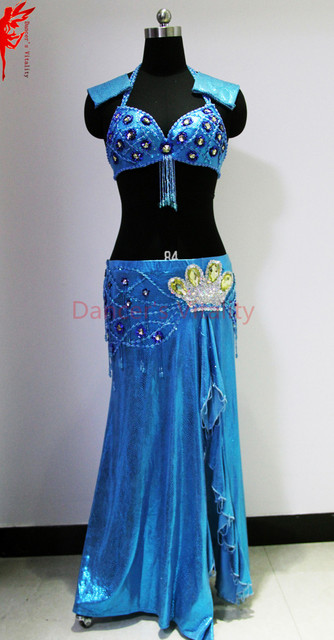 Lady belly dance performance clothes luxury stones bra skirt 2pcs girls  belly dance clothing set 6e667366cf54