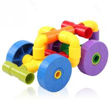 Children Colorful Insert Pipe Building Block Educational Funny Toys