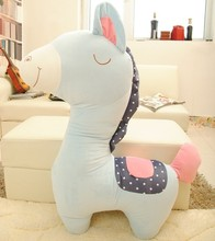 big new creative stuffed horse toy plush cute blue horse pillow doll gift about 100cm