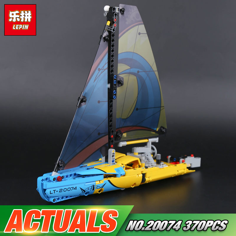Lepin 20074 New 369Pcs Technic Series The Racing Yacht Set 42074 Building Blocks Bricks Educational Toys Model For Kids As Gifts lepin 02020 965pcs city series the new police station set children educational building blocks bricks toys model for gift 60141